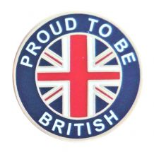 Proud To Be British Union Jack Pin Badge